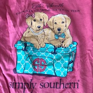"""Simply Southern L/S """"Girls in Pearls..."""" Tee"""
